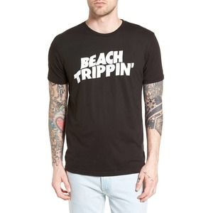 Altru T-Shirt Beach Trippin' Black Graphic L